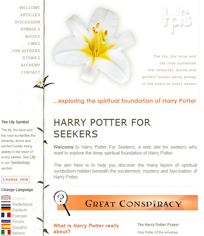 HarryPotterForSeekers-Lilly Theme